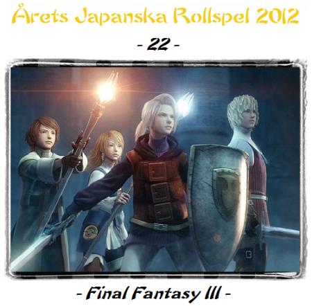 22. Final Fantasy III