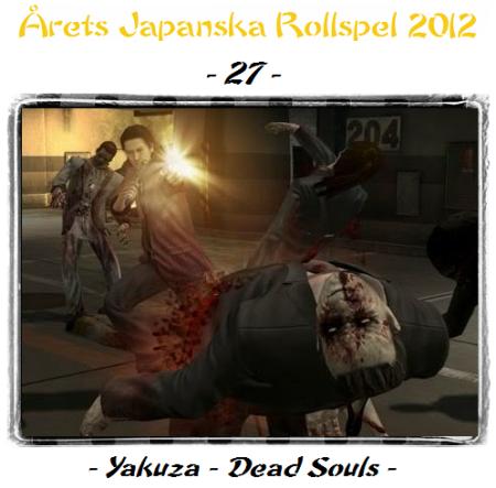 27. Yakuza - Dead Souls